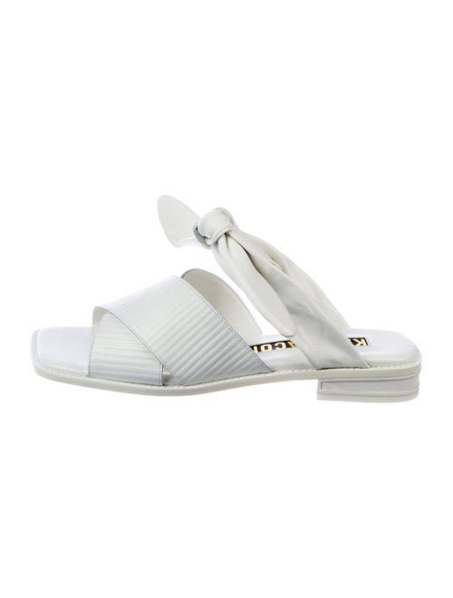 Kat Maconie Embossed Leather Flats w/ Tags White