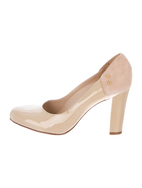 Kat Maconie Patent Leather Round-Toe Pumps Tan