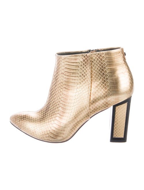 Kat Maconie Embossed Leather Boots Metallic