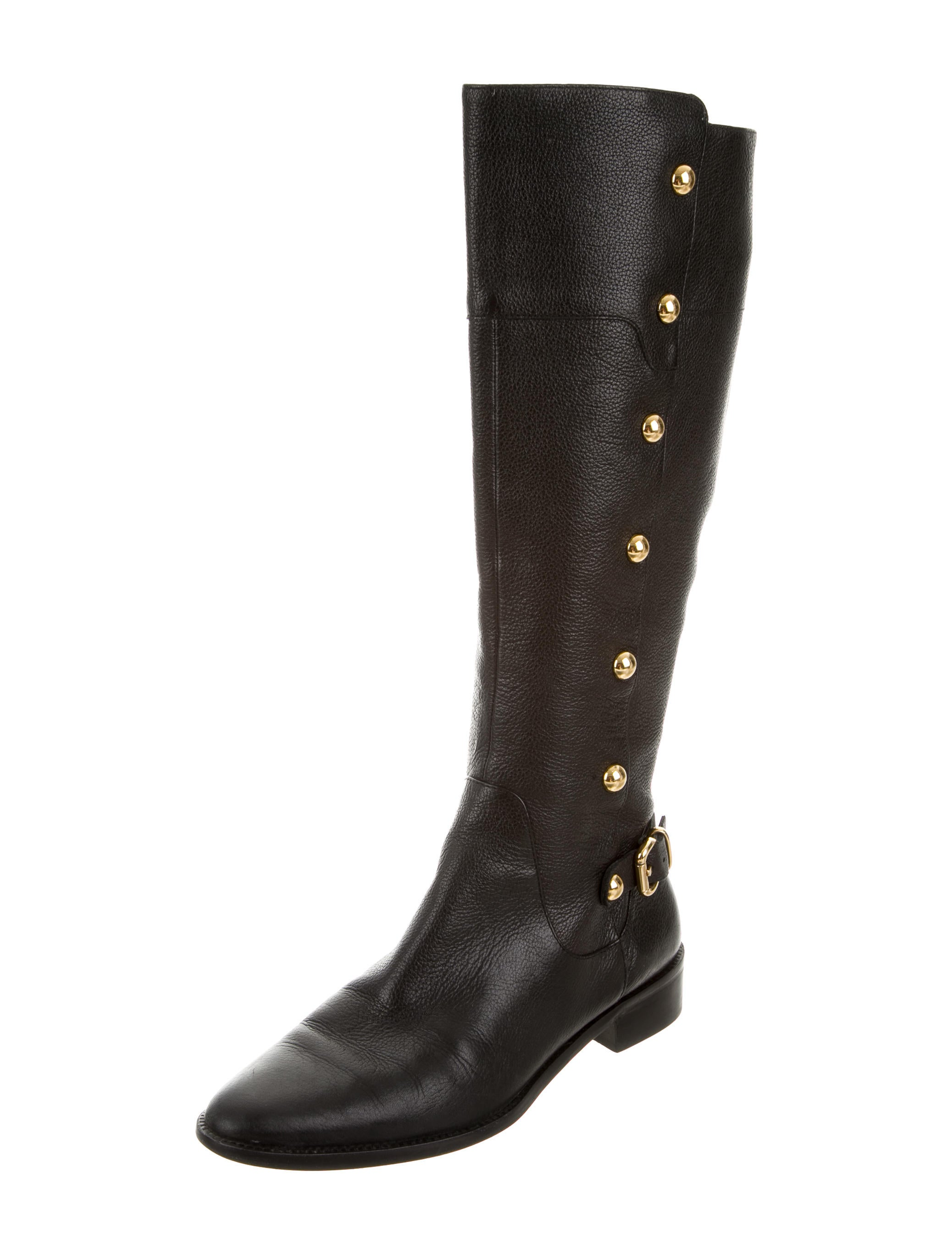 kors by michael kors studded leather boots shoes
