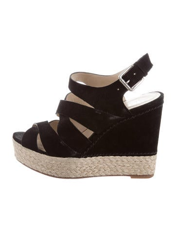 Kors by Michael Kors Suede Caged Wedge Sandals None