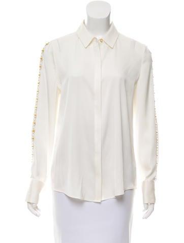 Kobi Halperin Silk Long Sleeve Blouse None
