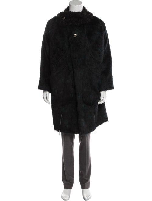 Kiko Kostadinov 2019 Maud Alpaca Suri Coat black