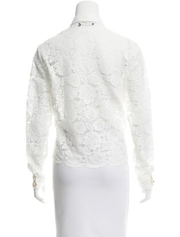 Lace Button-Up Top