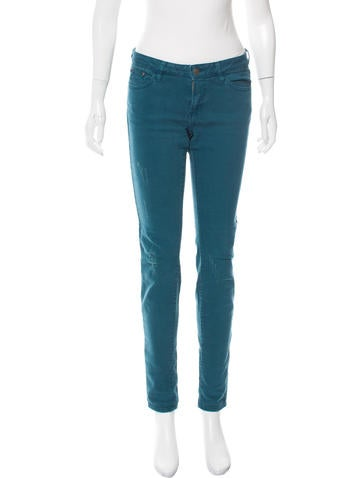 The Kooples Mid-Rise Distressed Jeans None