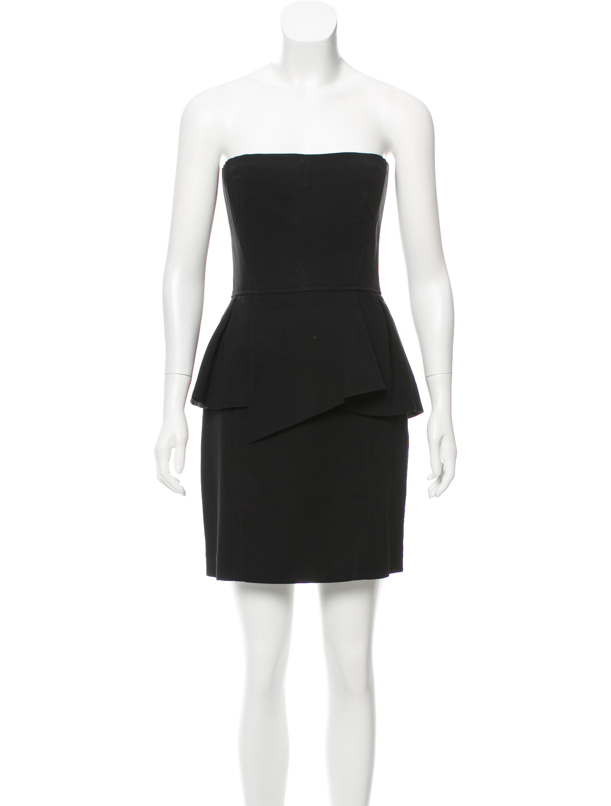 the kooples strapless peplum dress clothing wkoop20694
