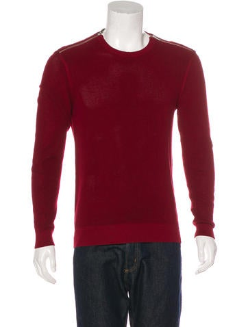 The Kooples Zip-Accented Rib Knit Sweater None