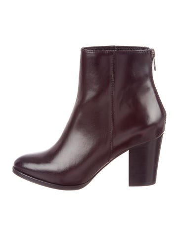 The Kooples Leather Round-Toe Ankle Boots w/ Tags for sale official site RxZb4