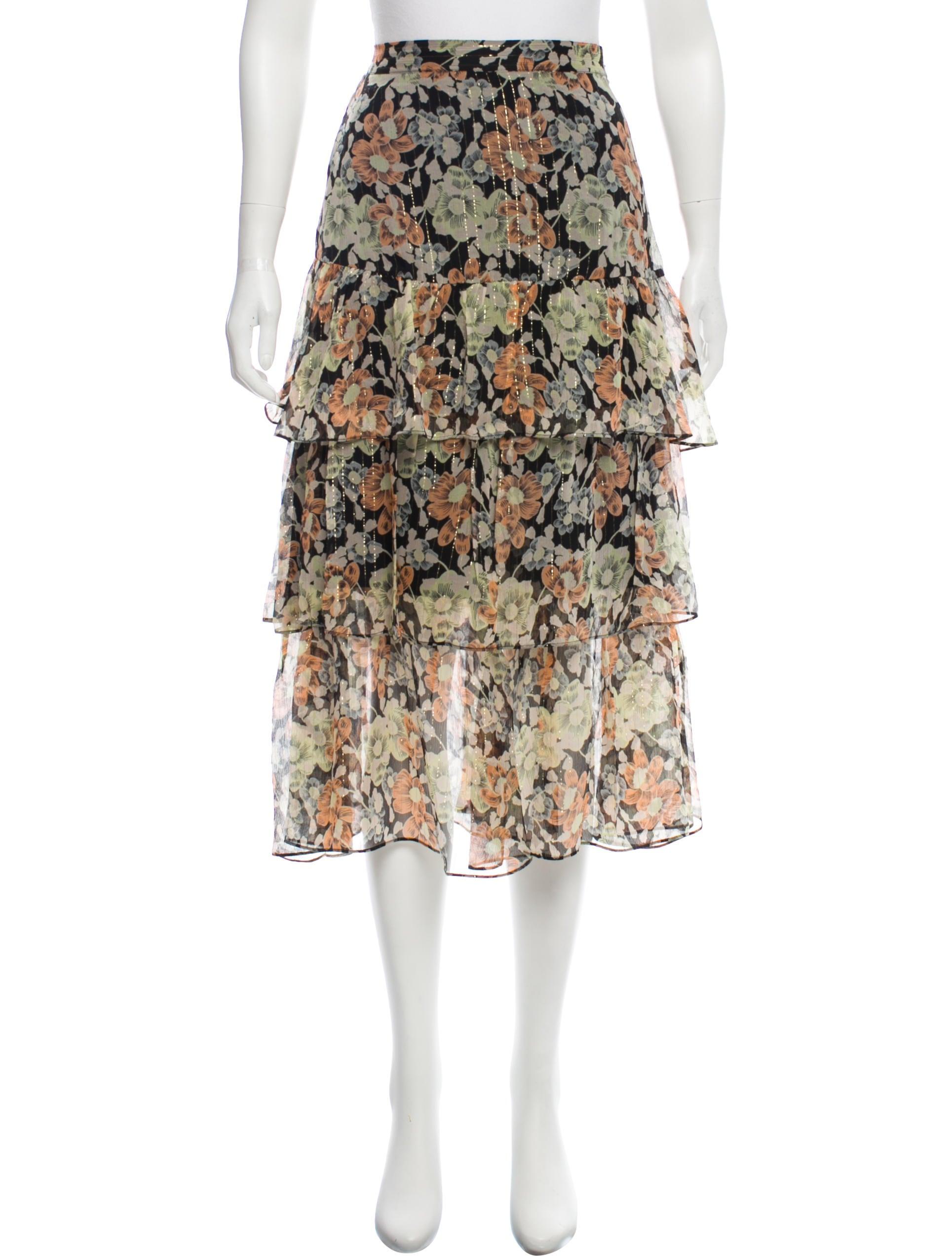 54ef3719f19 The Kooples Silk Tiered Skirt w/ Tags - Clothing - WKOOP21374 | The ...