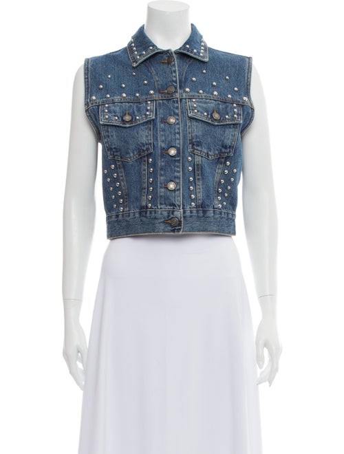 The Kooples Studded Denim Vest Vest w/ Tags Denim