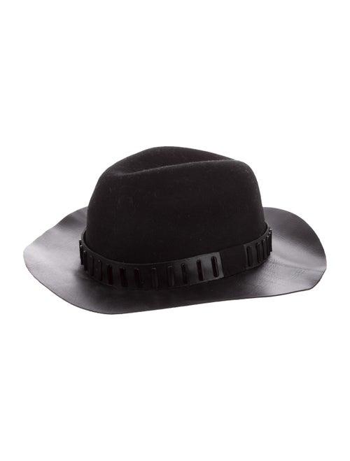 The Kooples Embellished Fedora Hat Black