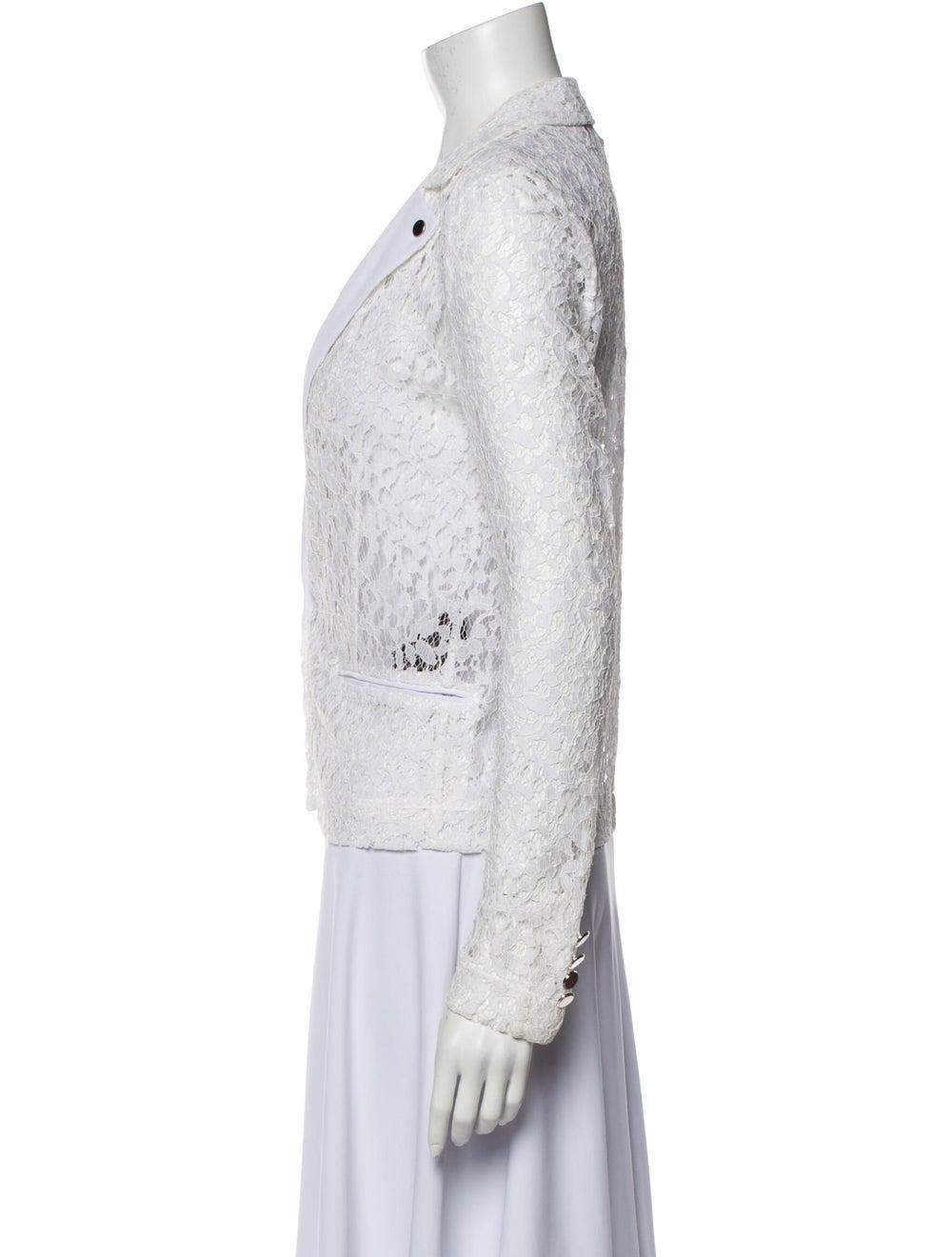The Kooples Lace Pattern Blazer White - image 2