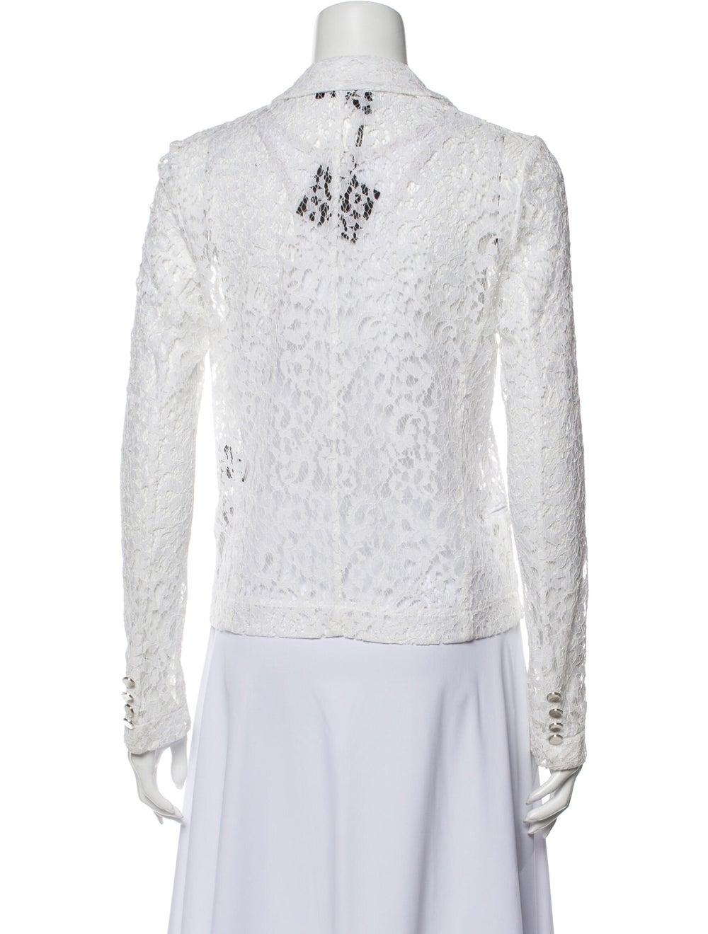 The Kooples Lace Pattern Blazer White - image 3
