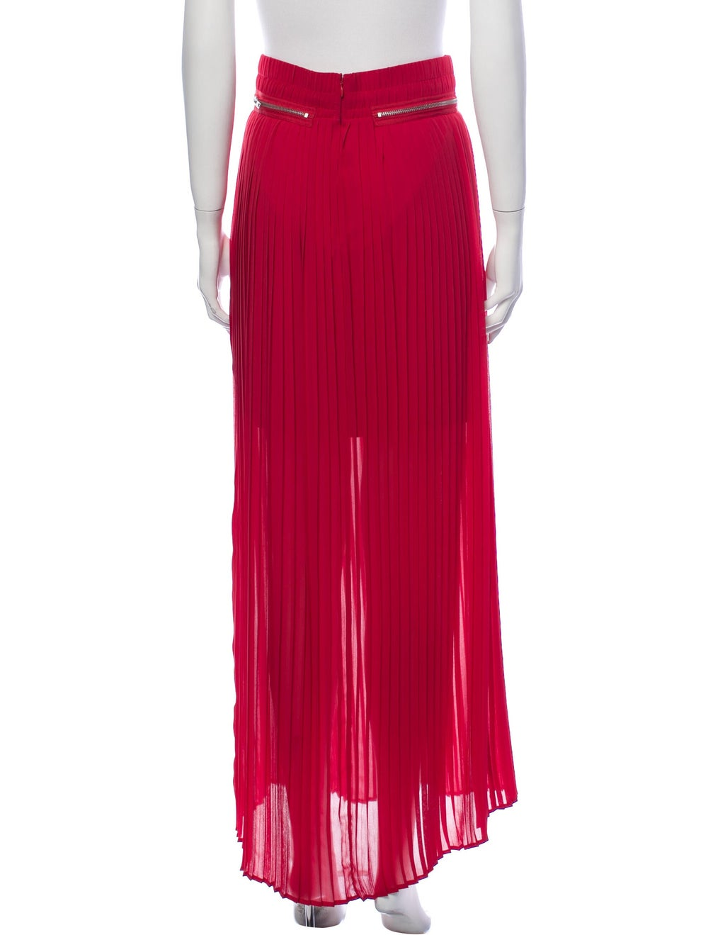 The Kooples Pleated Accents Long Skirt Red - image 3