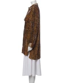 The Kooples Animal Print Long Sleeve Tunic