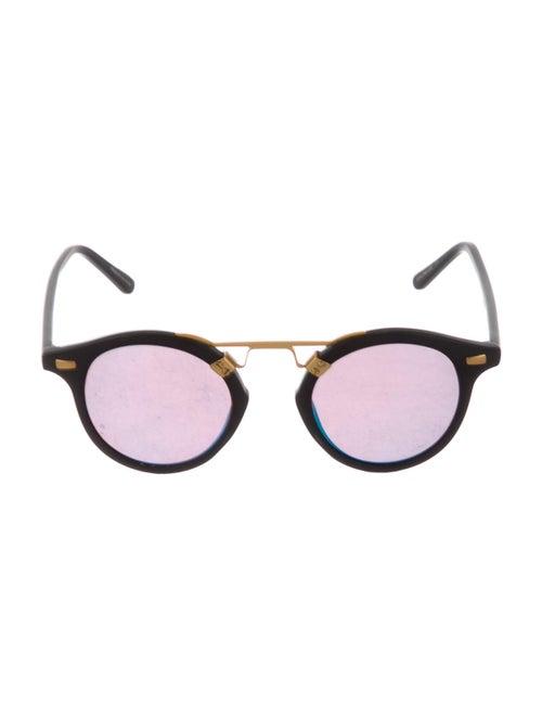 Krewe Mirrored Round Sunglasses Gold - image 1
