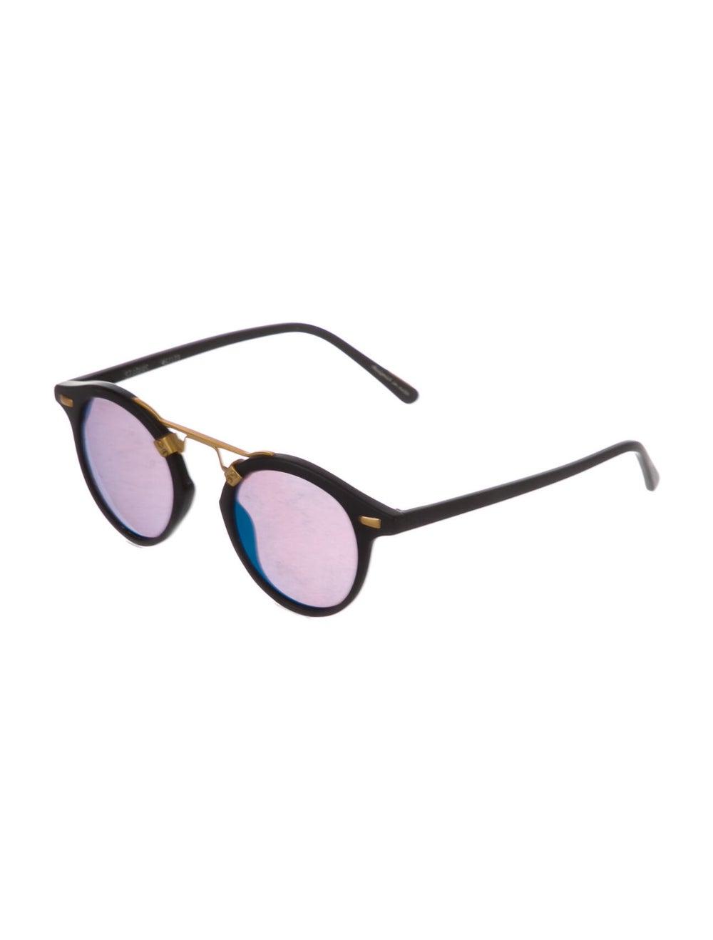 Krewe Mirrored Round Sunglasses Gold - image 2