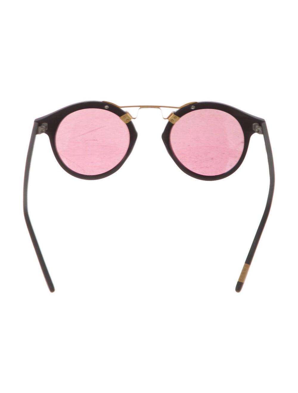 Krewe Mirrored Round Sunglasses Gold - image 3