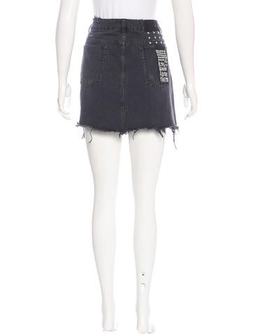 ksubi mini moss denim skirt w tags clothing wks20066