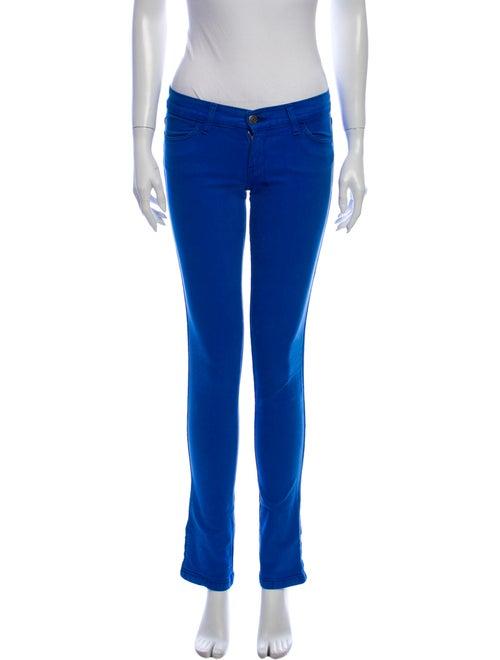 Ksubi Low-Rise Straight Leg Jeans Blue