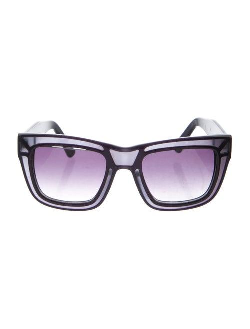 Ksubi Skeleton Square Sunglasses Purple