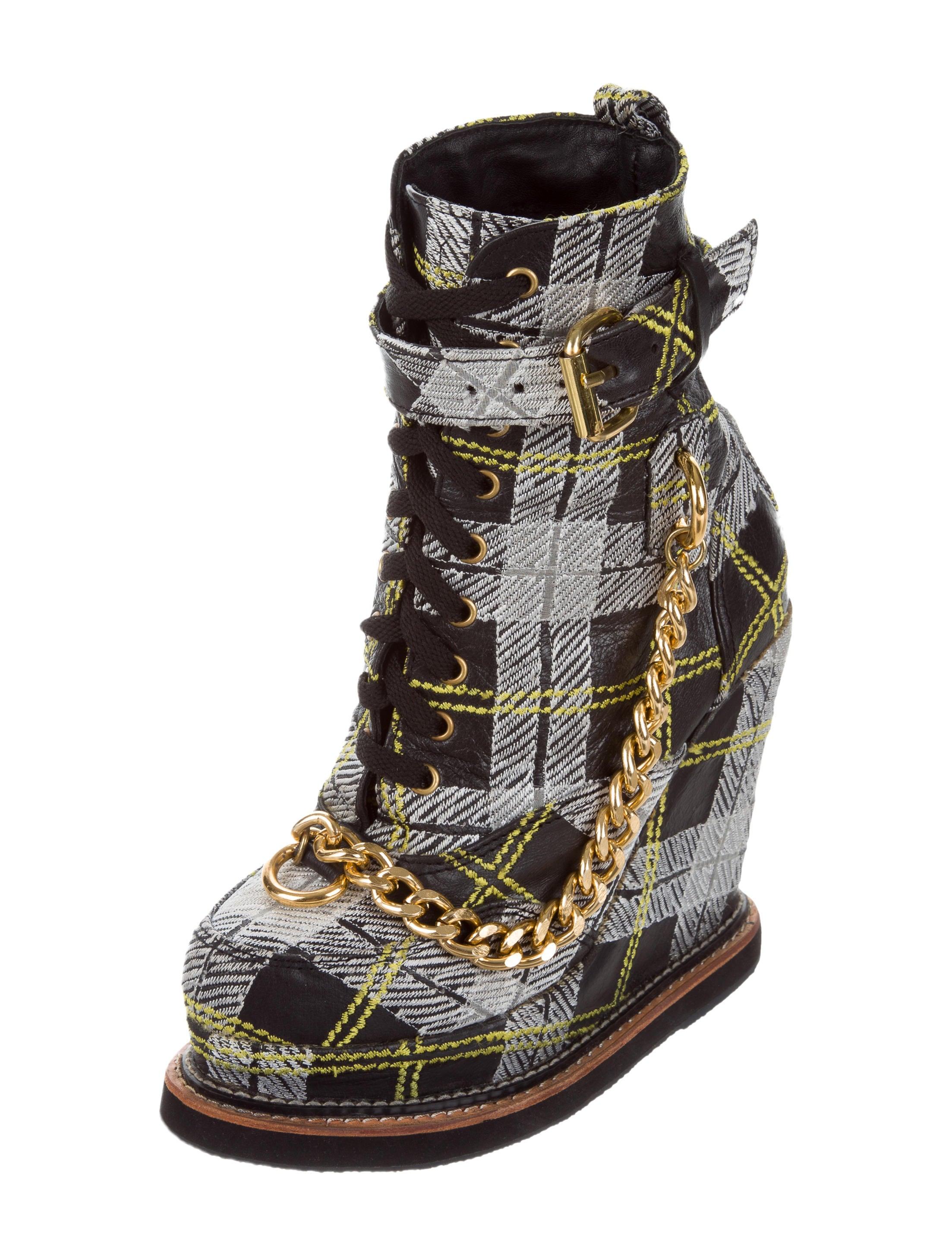 KTZ Plaid Mid-Calf Wedge Boots discount codes shopping online XNb8NIlZtW