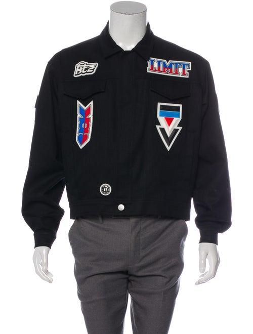 KTZ Embellished Denim Jacket black