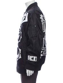 KTZ Graphic Print Bomber Jacket