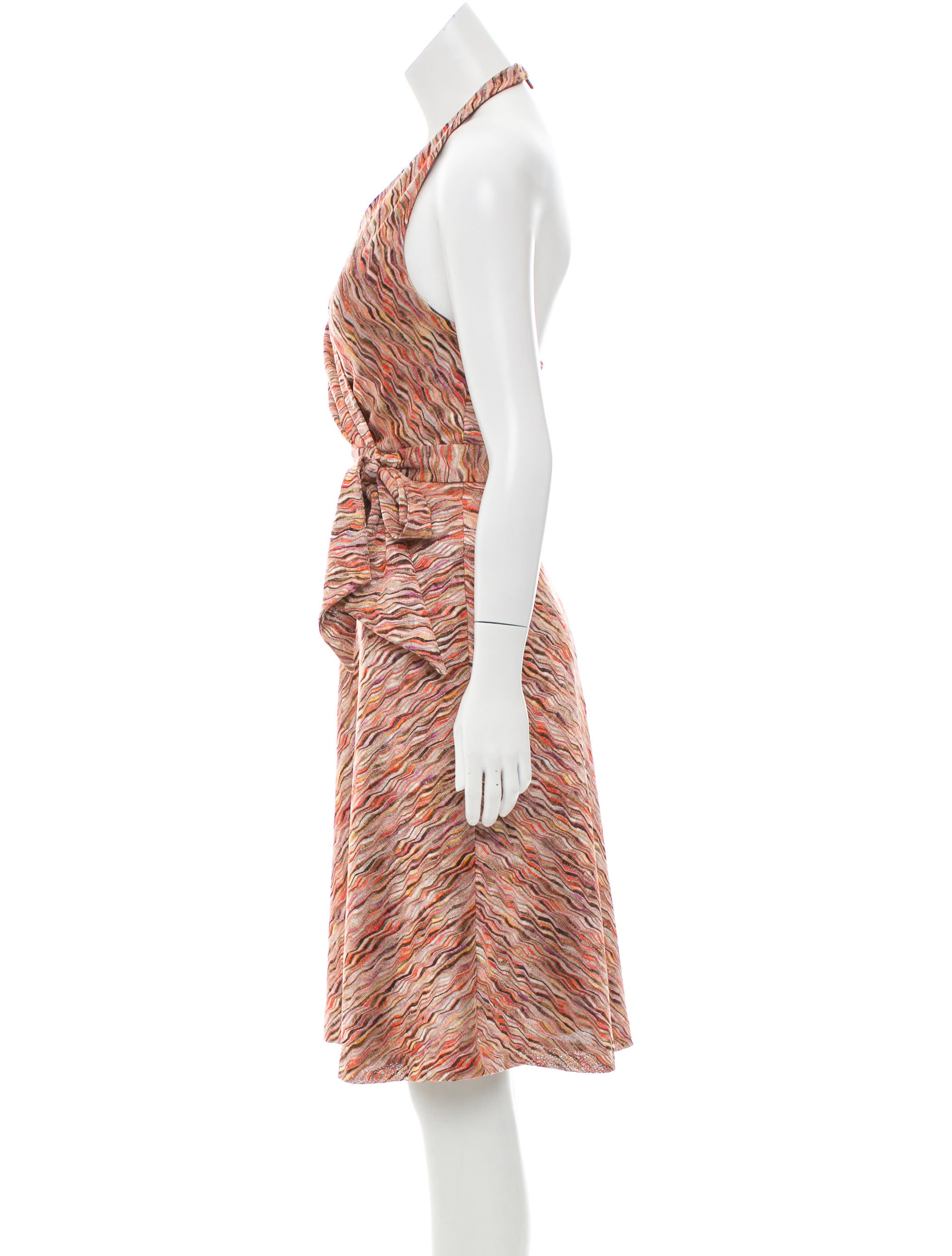 Kay Unger Patterned Halter Dress - Clothing - WKU20139 | The RealReal