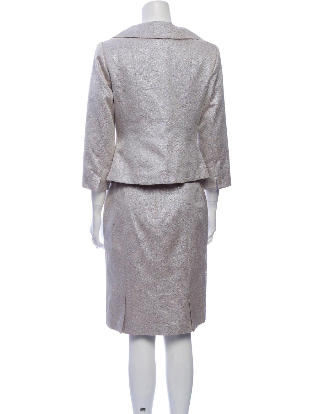 Kay Unger Skirt Set Metallic - image 3