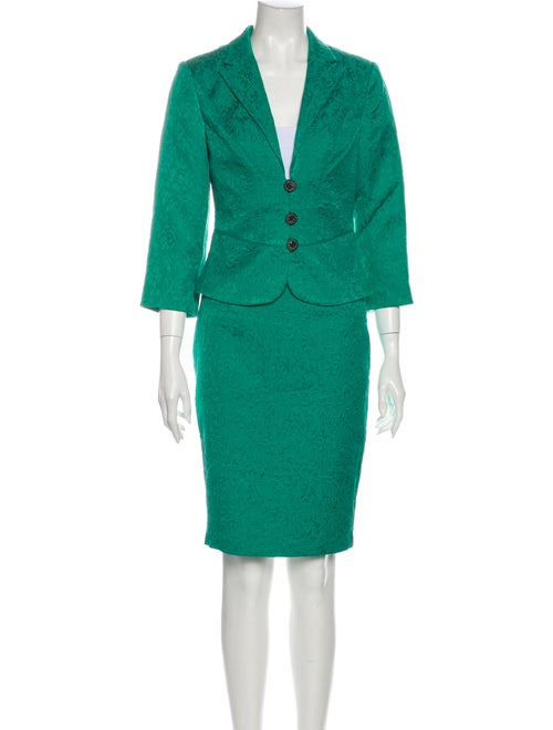 Kay Unger Skirt Suit Green