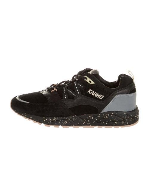 Karhu Suede Colorblock Pattern Sneakers Black