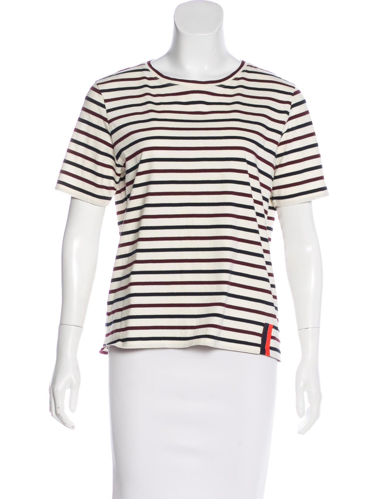 KULE Striped short-sleeve T-shirt JshK98