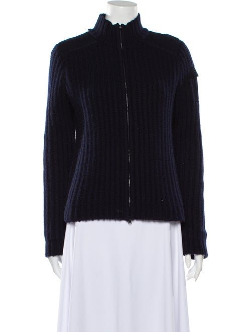 Kule Cashmere Mock Neck Sweater Blue