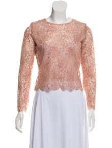 6a01ca2e47a3 Karina Grimaldi. Metallic Lace Top w/ Tags