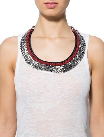 Chain Link Bib Necklace