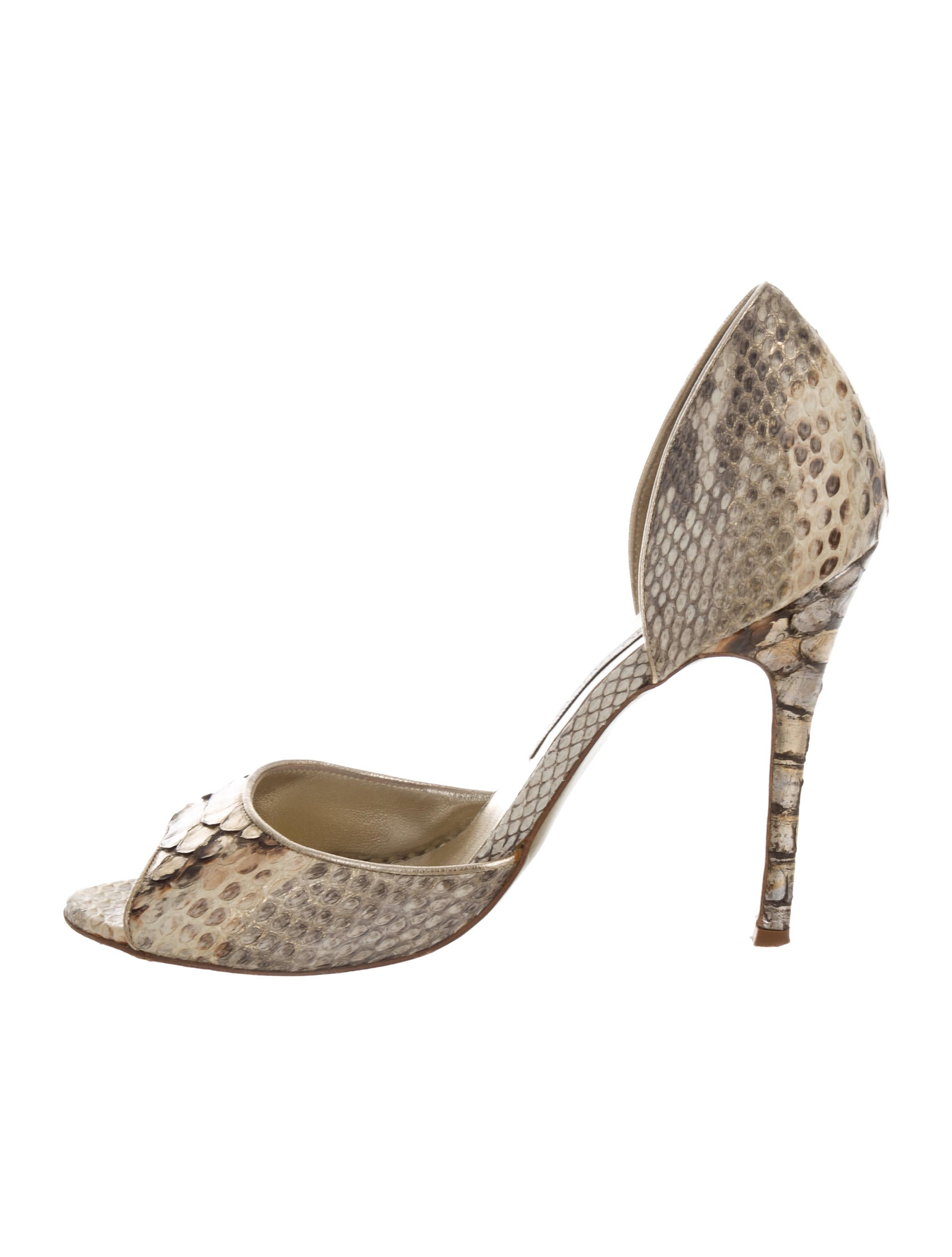 Luciano Padovan Python D'Orsay Pumps best store to get for sale jTZujTC