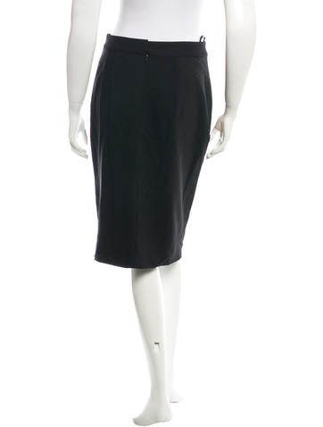 Slit-Front Pencil Skirt w/ Tags