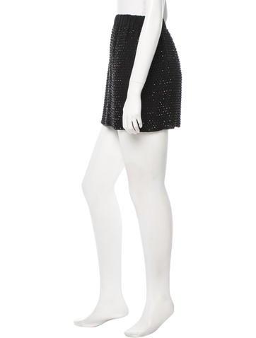 Silk Embellished Skirt