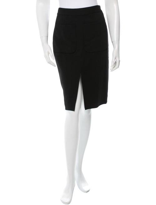 L'Agence Black Pencil Skirt Black