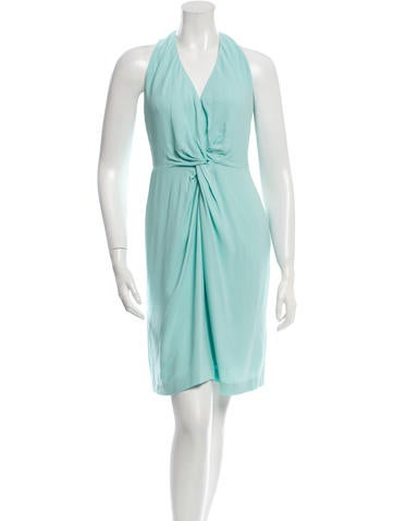 L'Agence Knot-Accented Sleeveless Dress