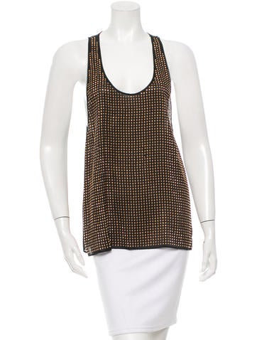 L'Agence Embellished Silk Top w/ Tags