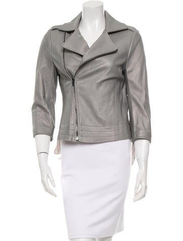 L'Agence Leather Biker Jacket None