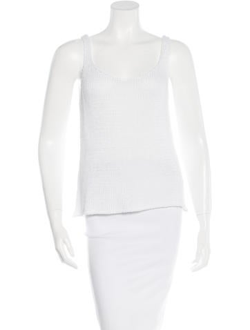L'Agence Open Knit Sleeveless Top None