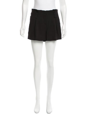 L'Agence Pleat-Accented Mini Shorts