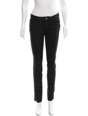 L'Agence Mid-Rise Leather Pants None