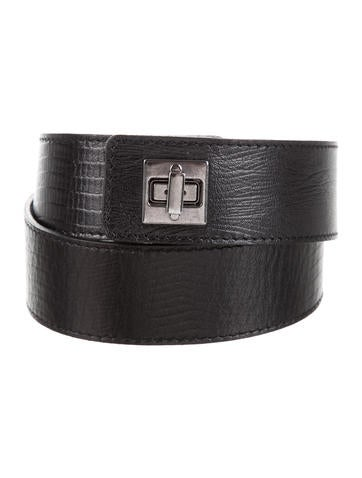 L'Agence Leather Waist Belt None