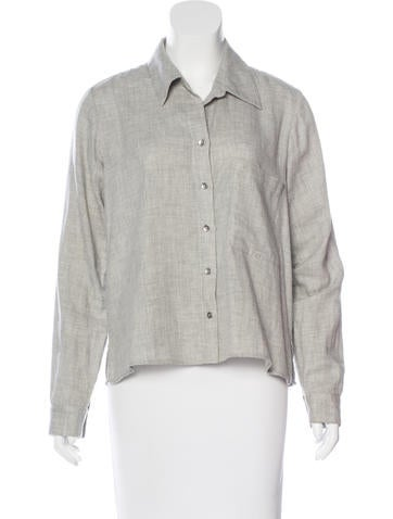L'Agence Oversize Button-Up Top None