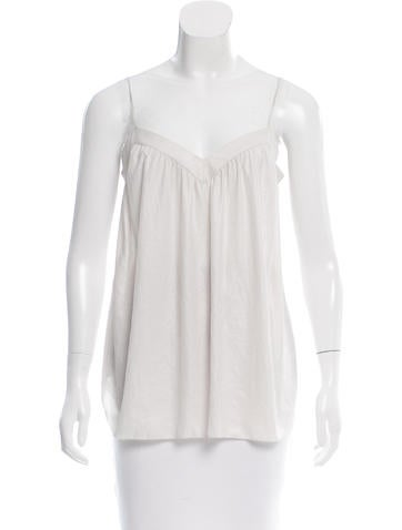 L'Agence Woven Sleeveless Top None