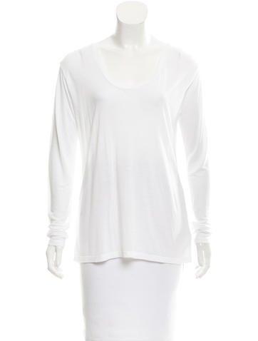 L'Agence Knit Semi-Sheer Top None